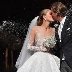 Dziedziczka rodu Swarovskich wzięła ślub w kreacji wartej 3,5 miliona złotych!