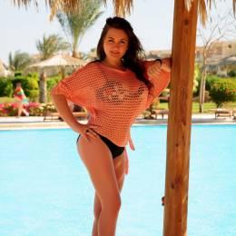 Klaudia, Łeba w stroju kąpielowym