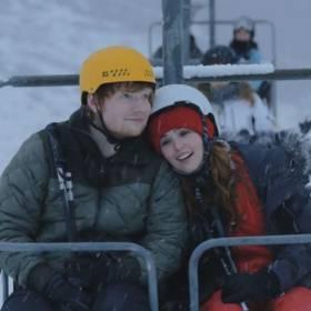 Zakochany Ed Sheeran na nartach – zobacz wideo!