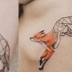 Najbardziej oryginalne, geometryczne tatuaże! Sprawdź!