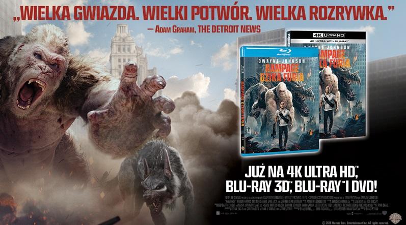 Film RAMPAGE: DZIKA FURIA wreszcie na DVD i Blue-ray! Premiera już 19 września