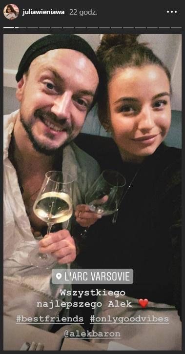 Julia Wieniawa i Baron do siebie wrócili? Wybrali się na romantyczną kolację i pokazali zdjęcia