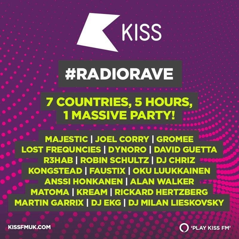 RADIO RAVE - największa impreza radiowa na świecie! Zagrają m.in. David Guetta, Martin Garrix, Robin Schulz i Gromee
