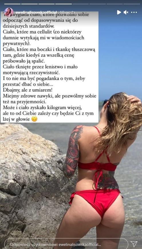 """Ewelina Lisowska porównuje swoje zdjęcia w bikini. """"Poszło mi tam, gdzie wszystkie marzą"""""""