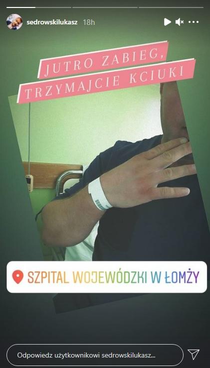 """""""Rolnik szuka żony"""". Jeden z uczestników w szpitalu! Łukasz Sędrowski ma problemy zdrowotne"""