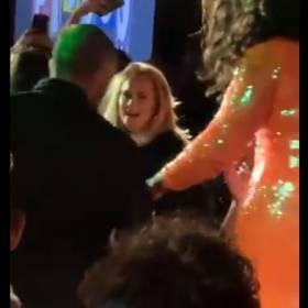 Jennifer Lawrence i Adele zrobiły furorę w nowojorskim klubie. Zobacz, jak się bawiły [WIDEO]