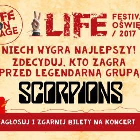 Zdecyduj, kto zagra przed Scorpions! Life on stage!