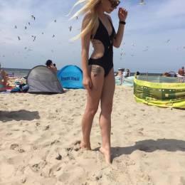Marta, Gdańsk w stroju kąpielowym