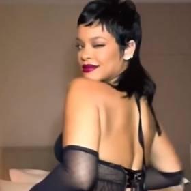 Rihanna trzęsie pośladkami, promując swoją kolekcję bielizny. Walentynkowy komplet niewiele zakrywa